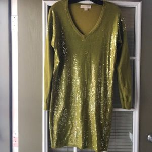 Michael sequined sweater dress